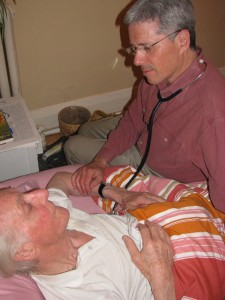 Palliative Care doctor, Sandy Buchman at a home visit